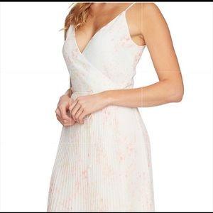1. State Print Pleated Wrap Midi Dress. Size XL